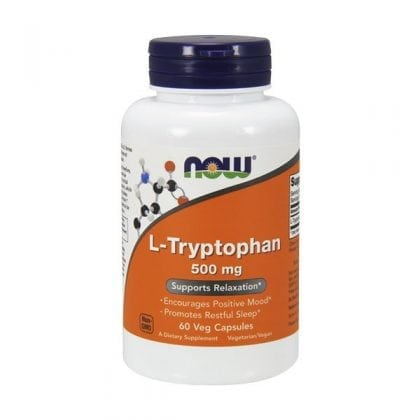 NOW L-Tryptophan 500mg (60 Vcaps)